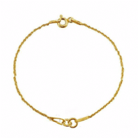 24K Gold Plated 15cm Sterling Silver Bracelet Chain